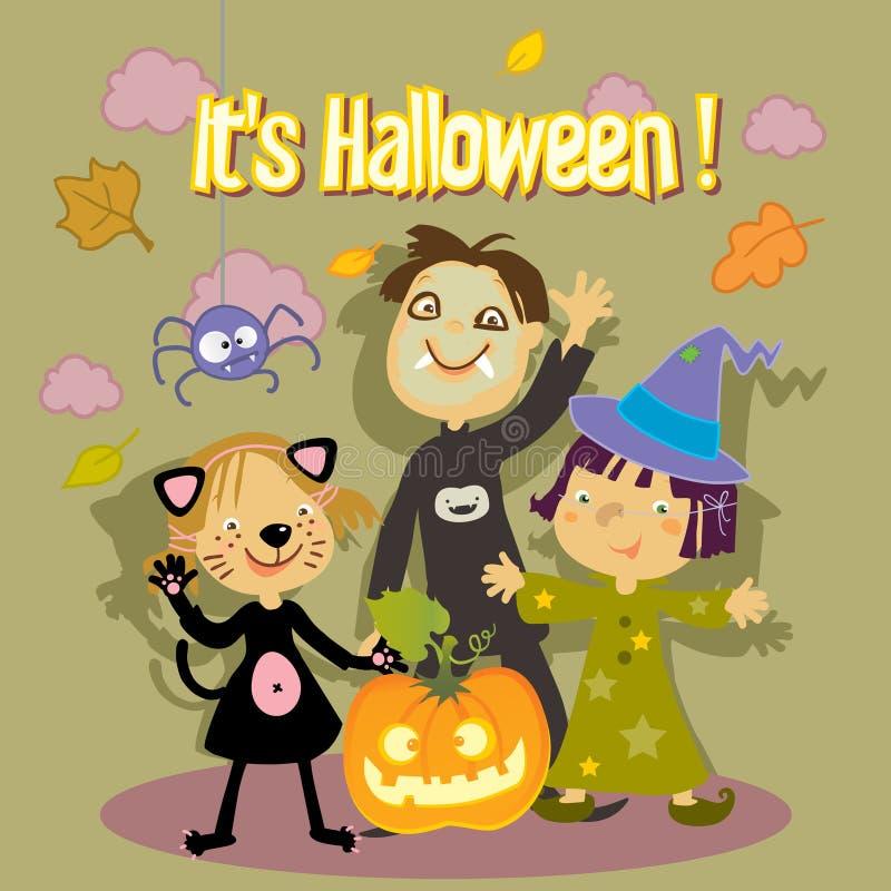 Halloween kids royalty free illustration