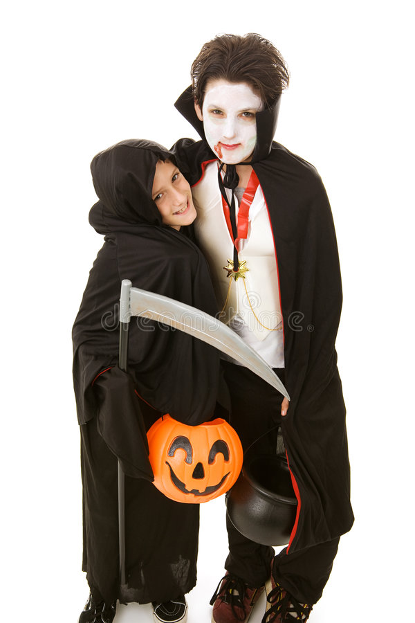Download Halloween Kids - Brothers stock photo. Image of reaper - 5920310