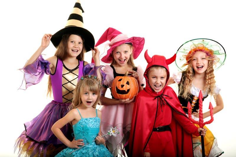 Halloween-Kinder lizenzfreie stockfotos
