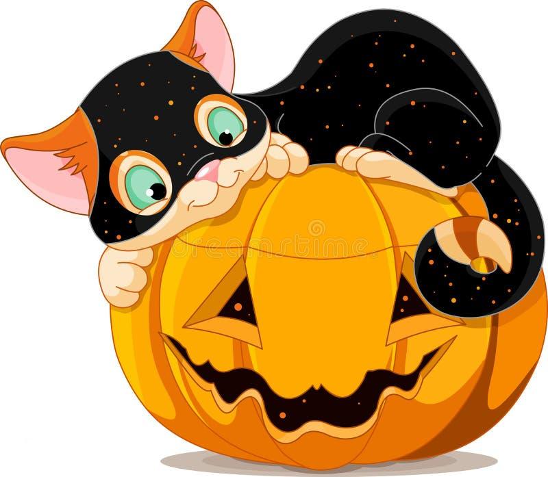 Halloween kitten stock illustration