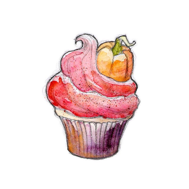 Download Halloween-kleiner Kuchen stock abbildung. Illustration von dekorativ - 26372484