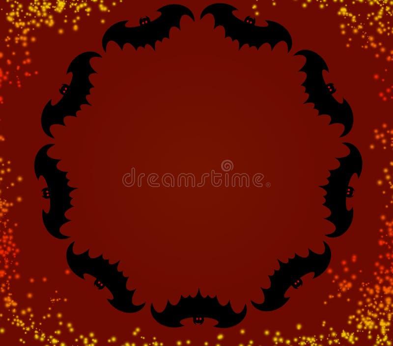 Halloween-knuppels in een cirkel royalty-vrije stock afbeeldingen