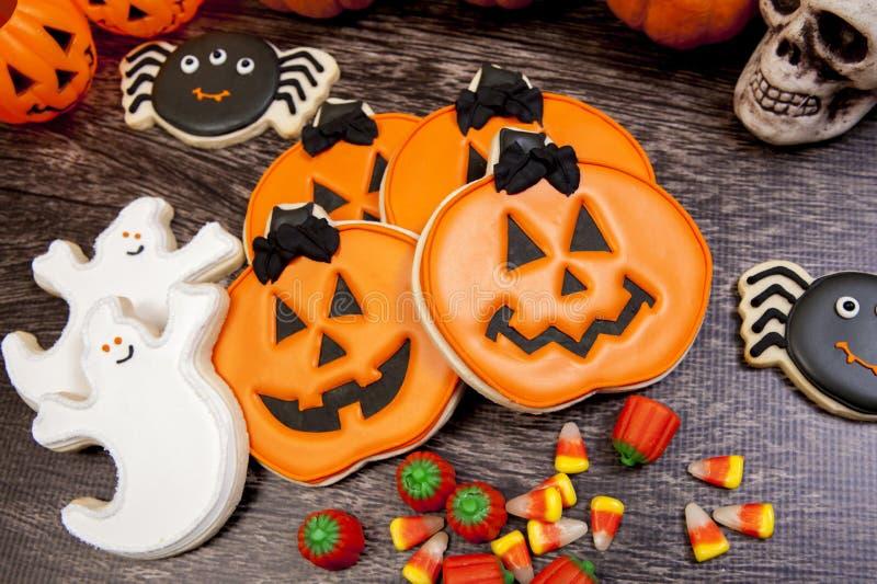 Halloween-koekjes stock foto's