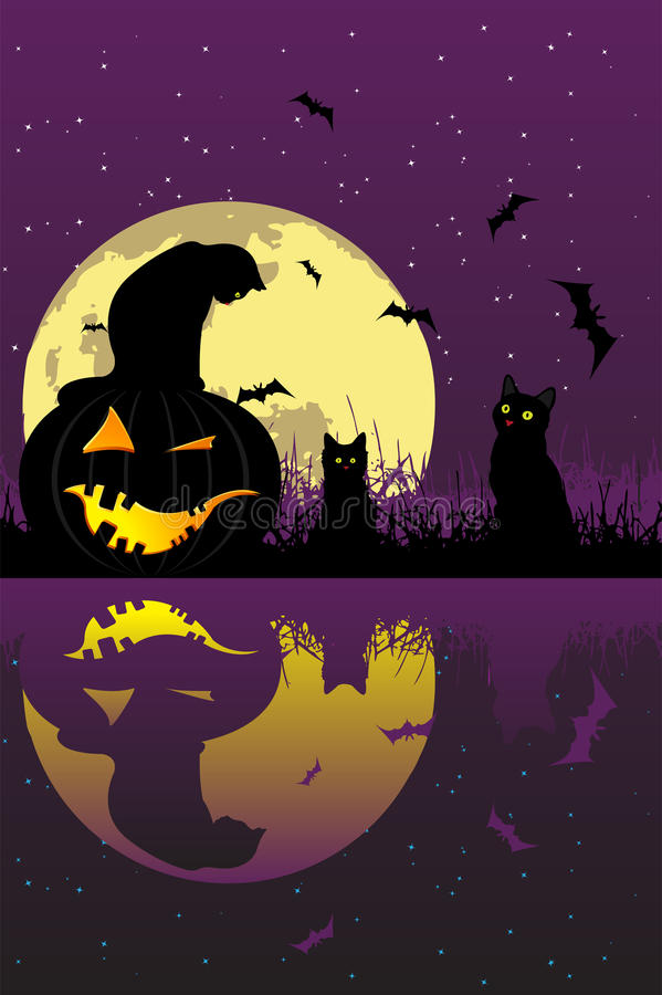 Download Halloween komt! vector illustratie. Illustratie bestaande uit viering - 10777305