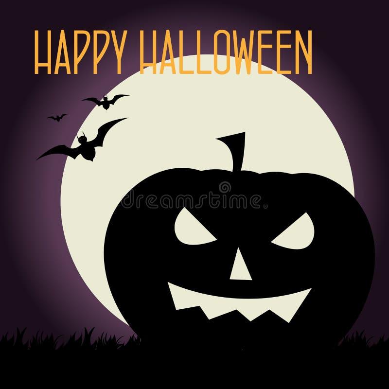 Halloween kort vektor illustrationer