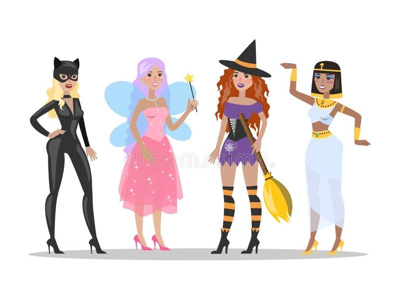 Halloween-Kostüme eingestellt vektor abbildung