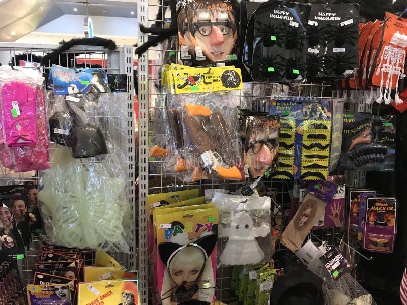 Halloween kostümiert Zubehör stockbild