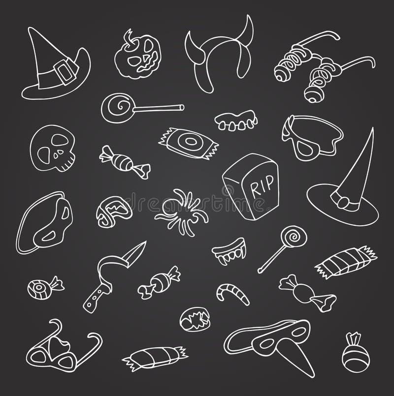 Halloween-krabbel stock illustratie