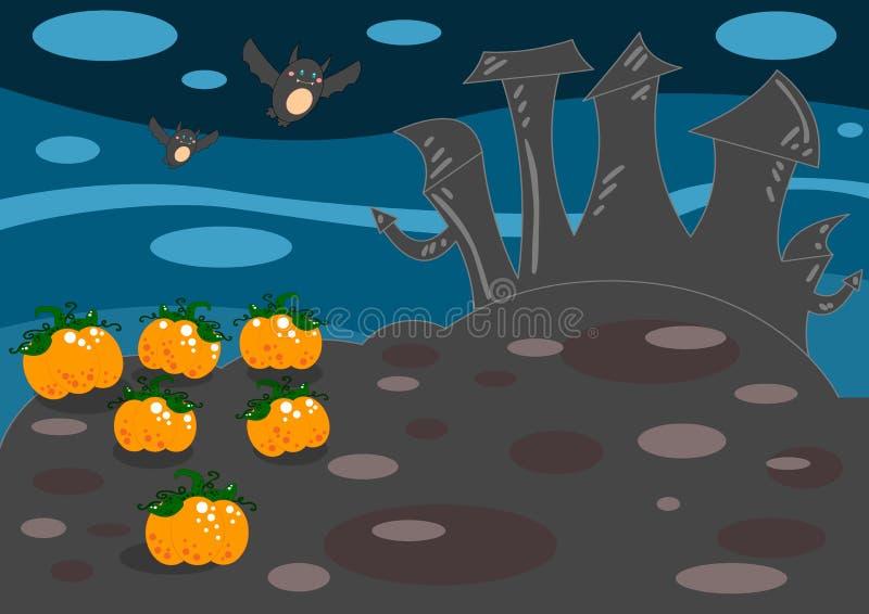 halloween krajobraz ilustracja wektor