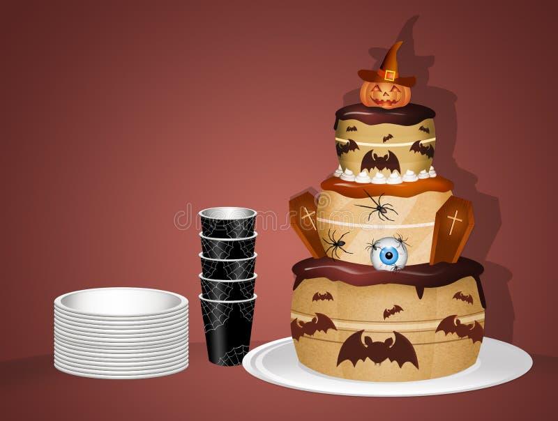 Halloween-Kuchen für Partei stock abbildung