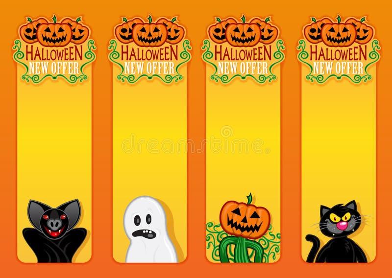Halloween Labels Stock Photo