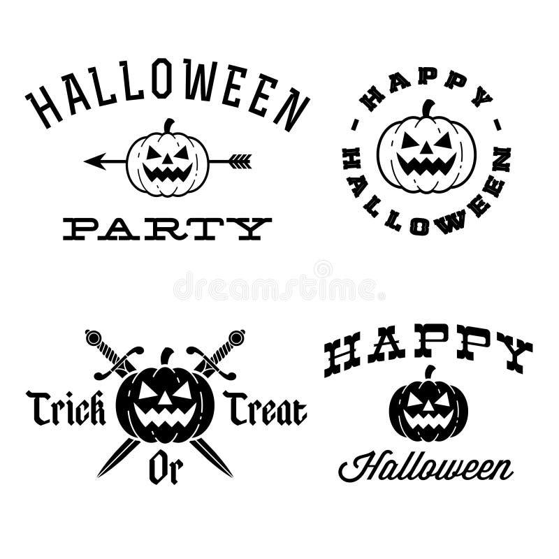 Halloween labels stock illustration