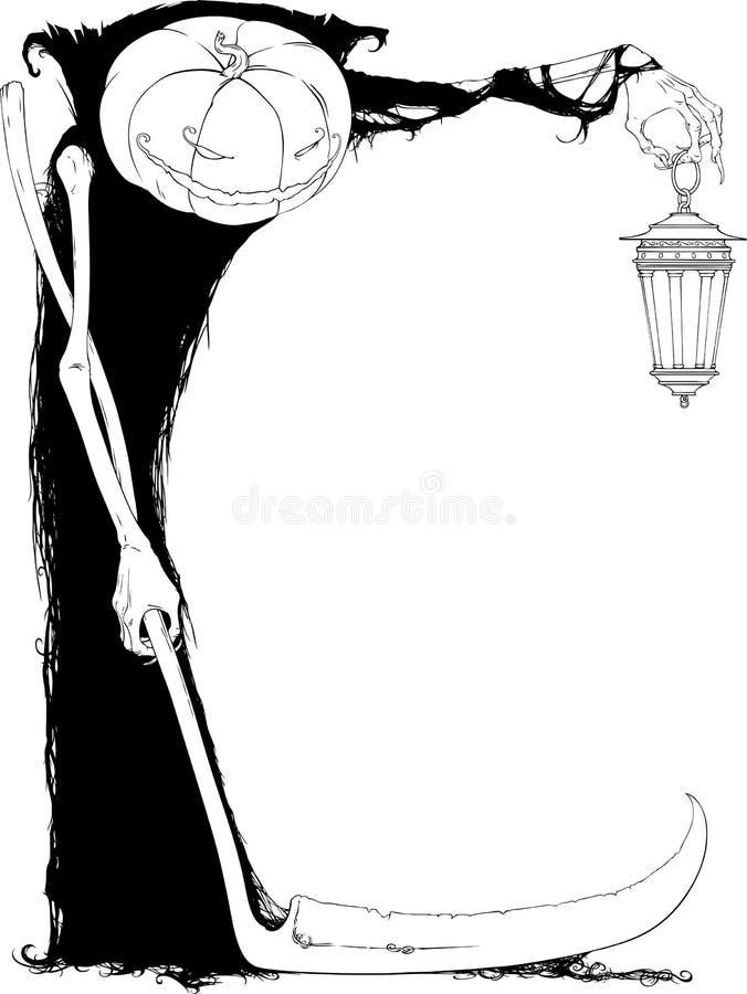 halloween lampa vektor illustrationer