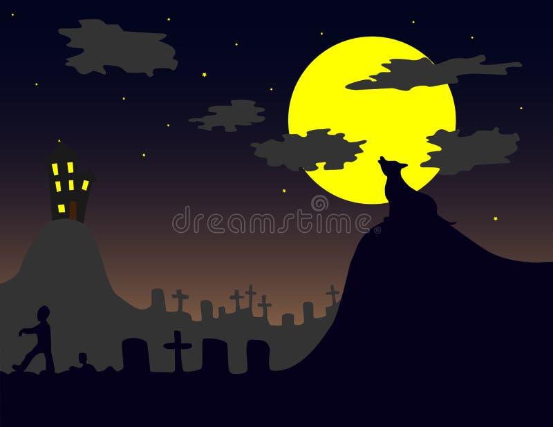 Download Halloween Landscape stock vector. Illustration of dark - 10577088