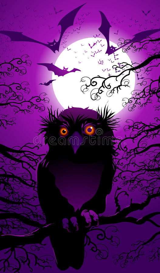 Download Halloween landscape stock vector. Illustration of moon - 10869452