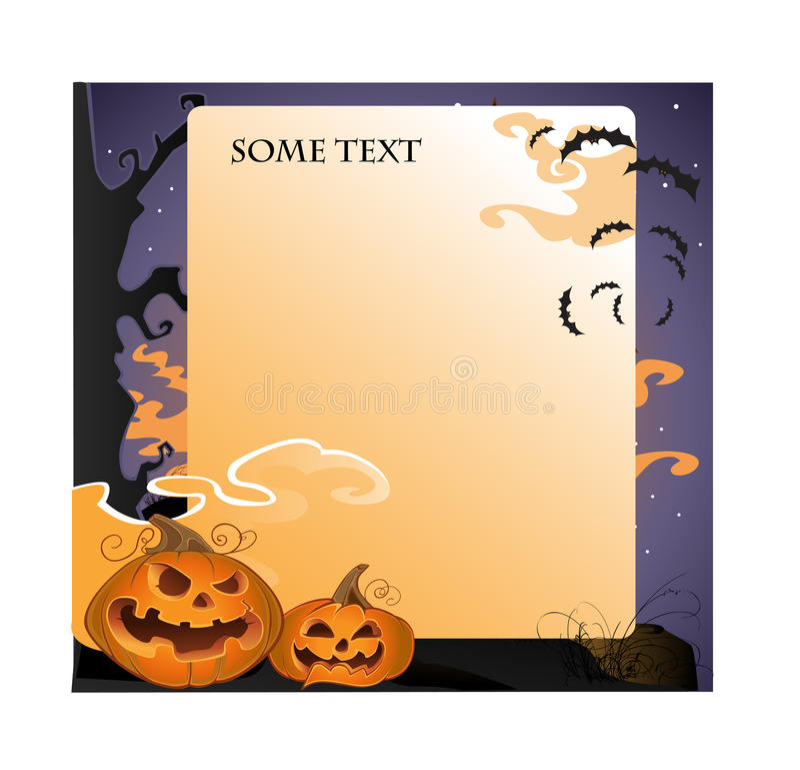 Halloween landscape text background stock photos