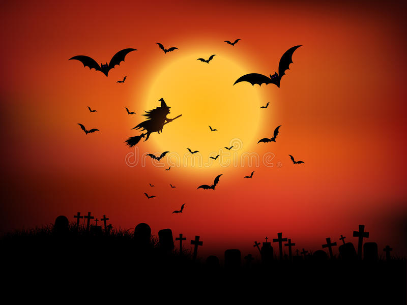 Halloween landscape stock images
