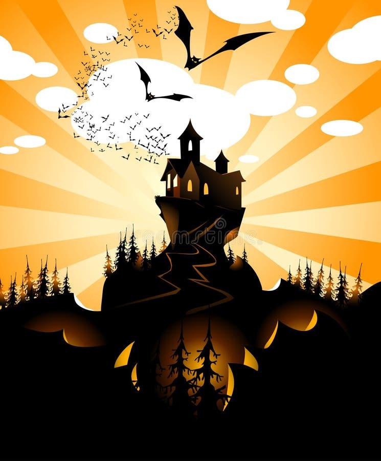 halloween lanscape vektor illustrationer