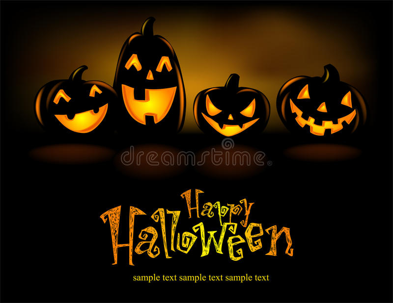 Halloween-Lantaarns vector illustratie