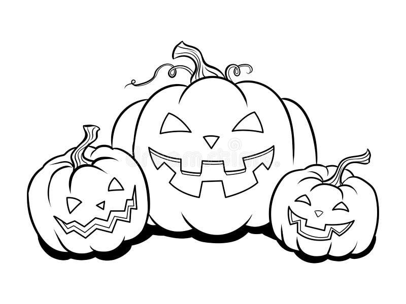Halloween Pumpkin Coloring Book Vector Stock Vector - Illustration ...