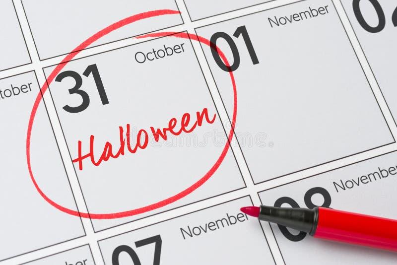 Halloween, le 31 octobre image stock