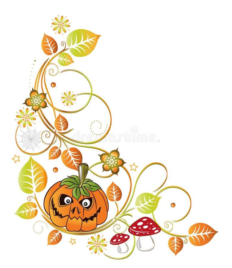 Halloween, leaves, autumn stock illustration