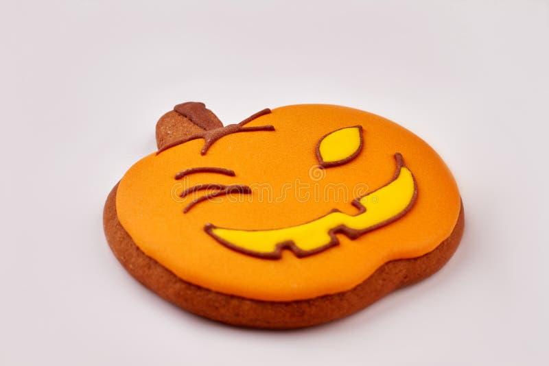 Halloween-Lebkuchenplätzchen lizenzfreies stockfoto