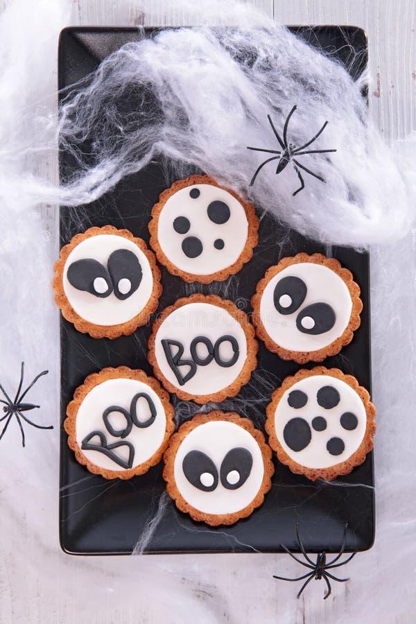 Halloween-Lebkuchenplätzchen lizenzfreie stockbilder