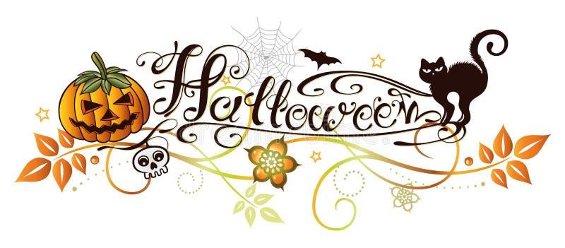 Halloween lettering royalty free illustration