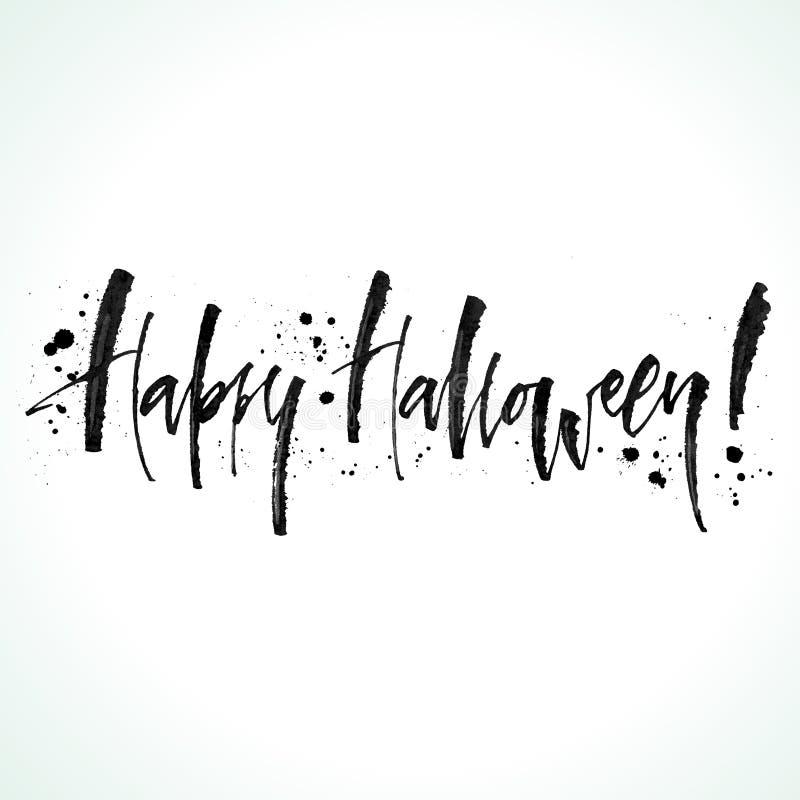 Halloween Lettering stock illustration