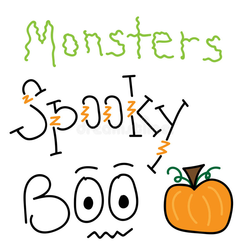 Halloween Lettering royalty free illustration