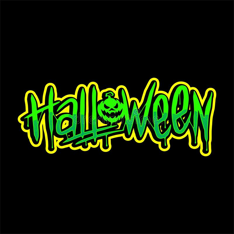 Halloween Lettering 1 Vector Design stock photography