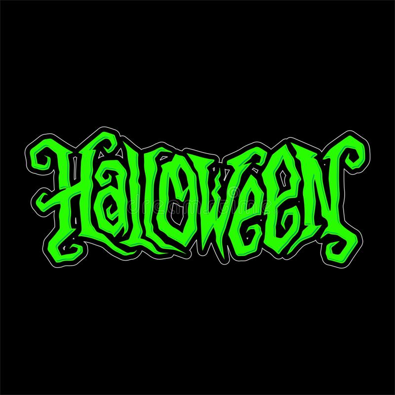 Halloween Lettering Vector Design royalty free stock photography