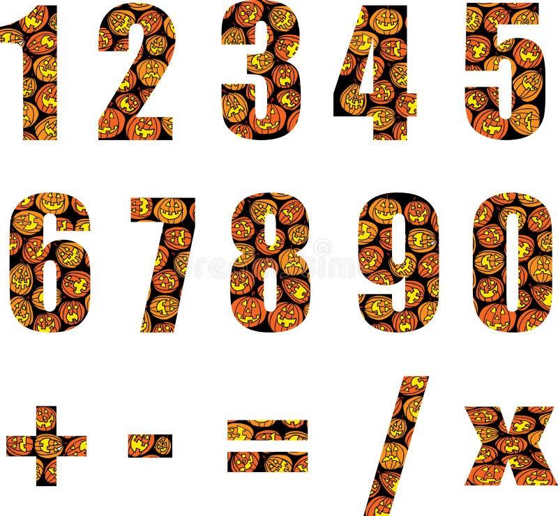 halloween liczby ilustracji