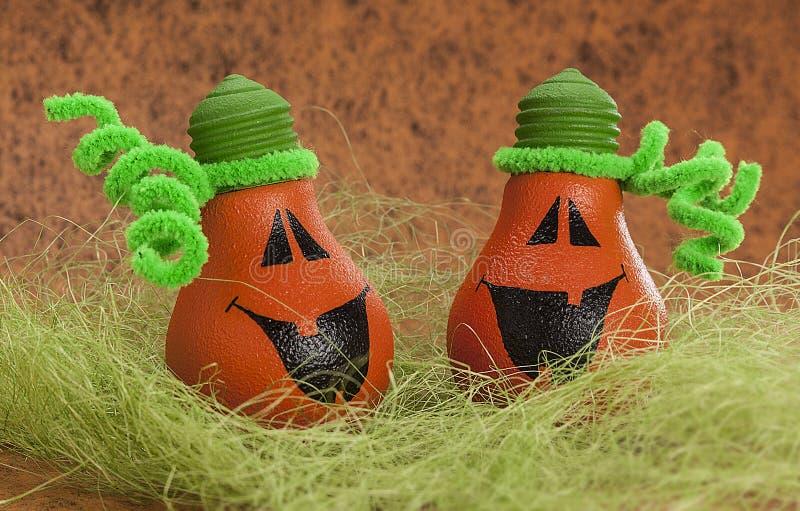 Halloween Light Bulbs Decor Stock Images