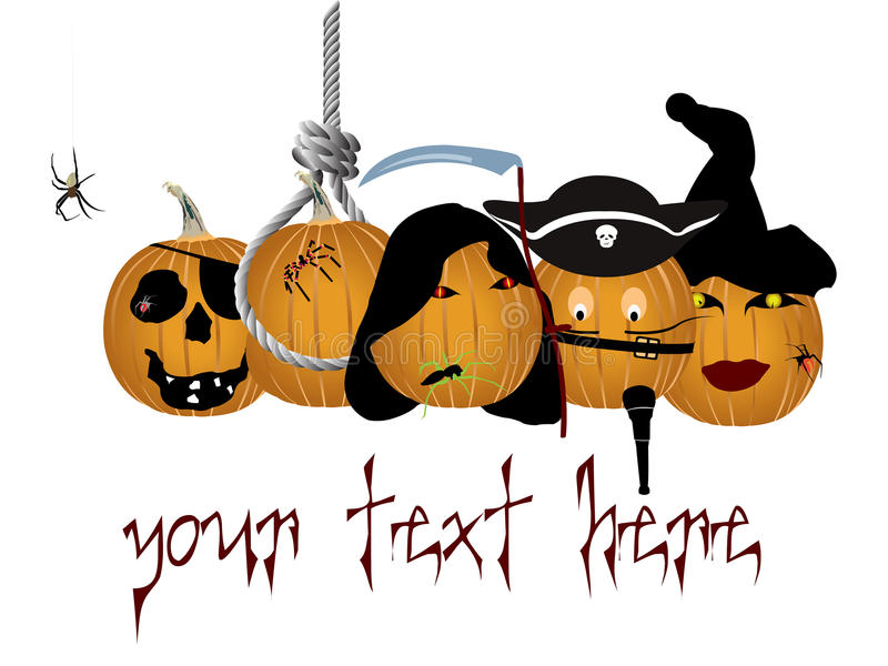 Halloween logo or banner stock photos