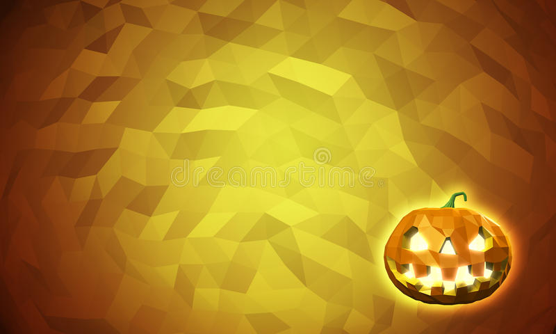 Halloween low poly background stock illustration