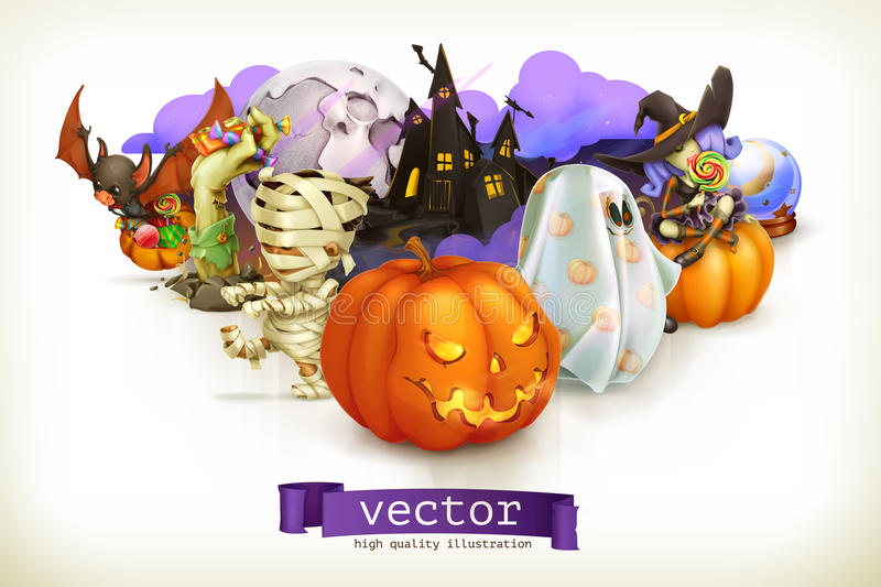 halloween lycklig illustration stock illustrationer