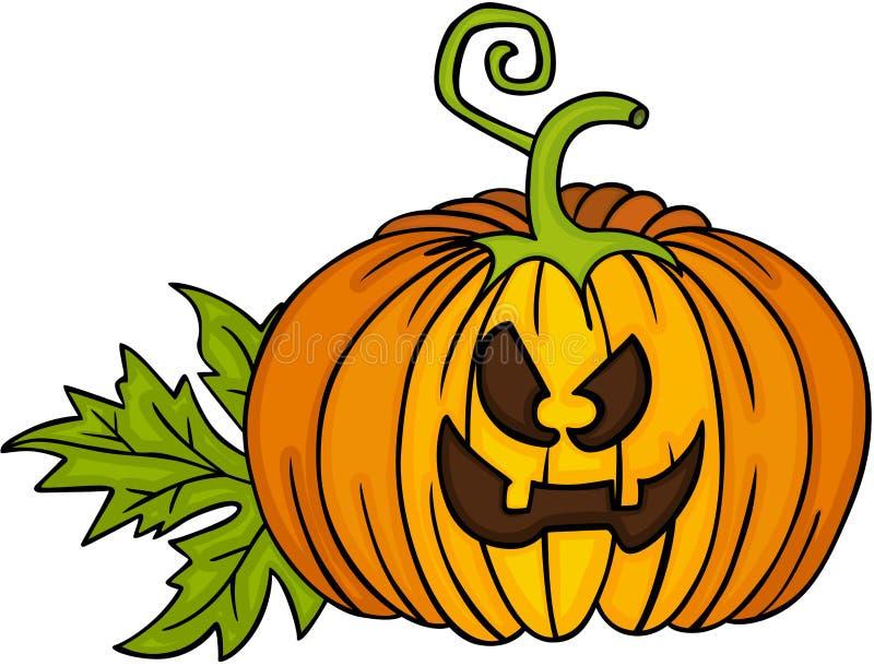 halloween lycklig pumpa vektor illustrationer