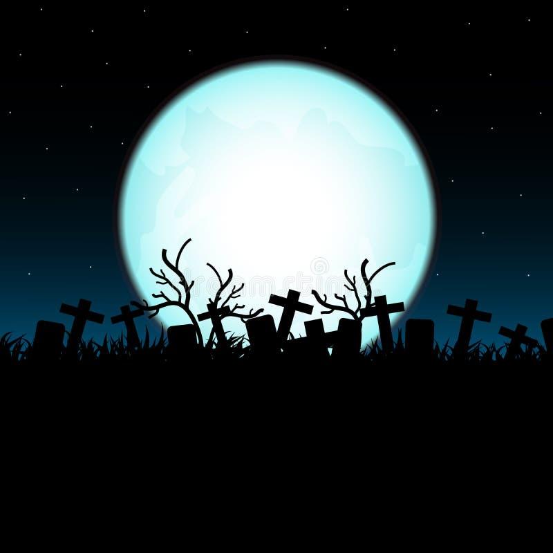 Halloween-maannacht stock illustratie