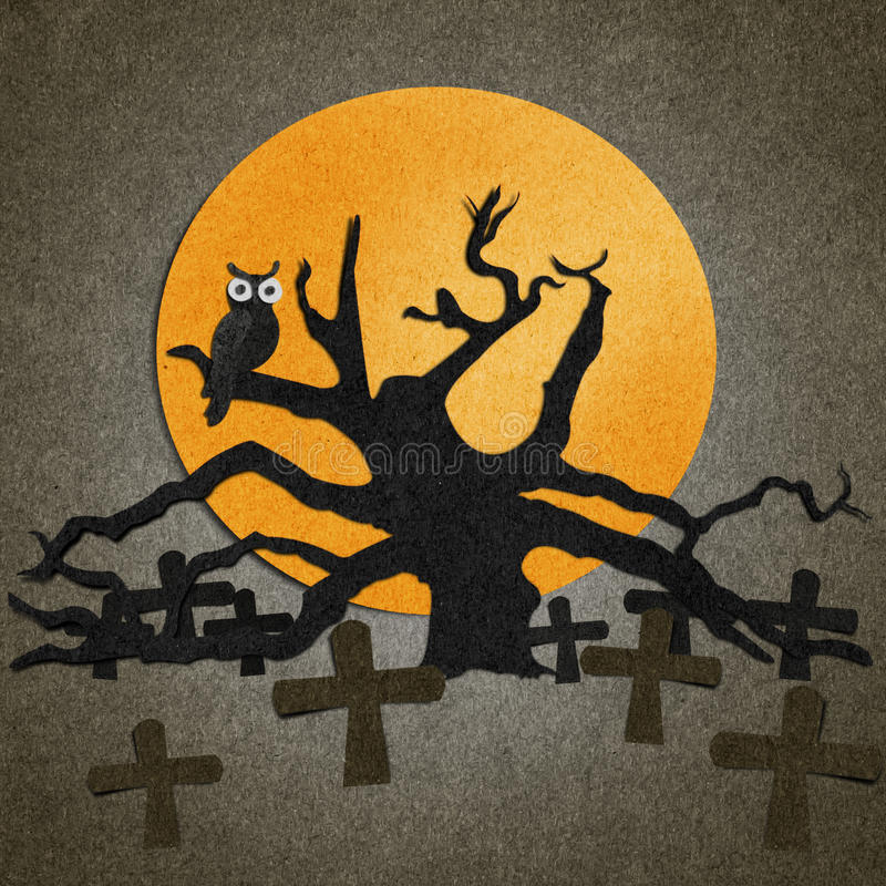 Halloween is made from recycled paper. Halloween is made from recycled old paper royalty free illustration