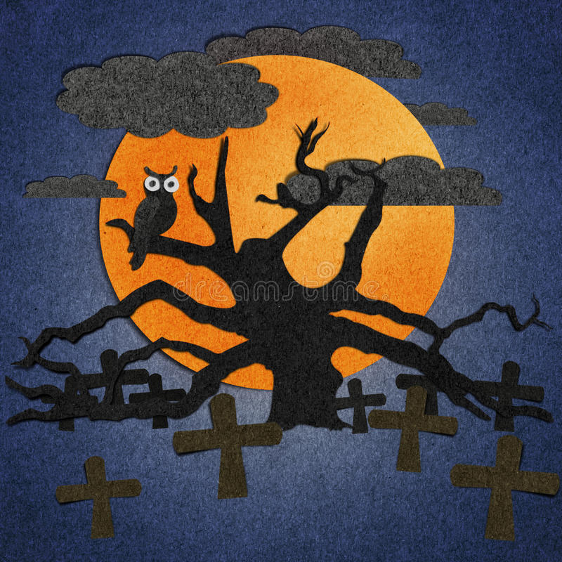 Halloween is made from recycled paper. Halloween is made from recycled old paper vector illustration