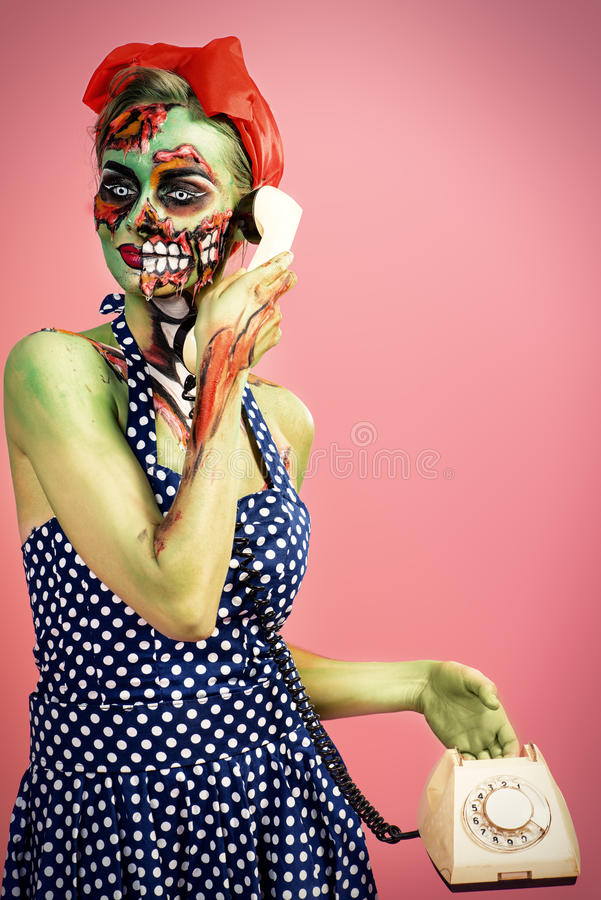 Halloween-Make-up lizenzfreie stockbilder