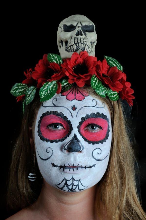 halloween make up mexican mask stock photo image 46203517. Black Bedroom Furniture Sets. Home Design Ideas