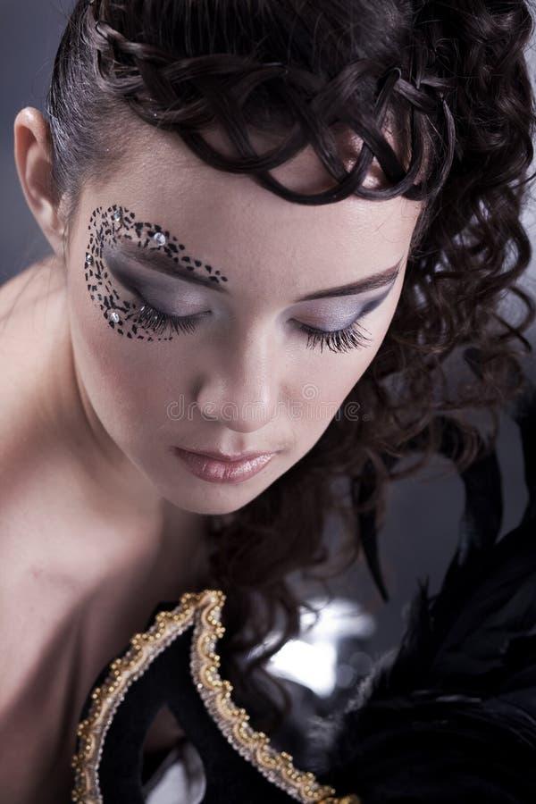 halloween makeup fotografia stock