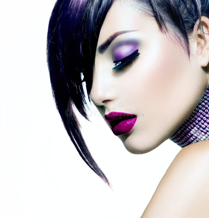 Halloween Makeup Stock Image. Image Of Hairstyle, Dark