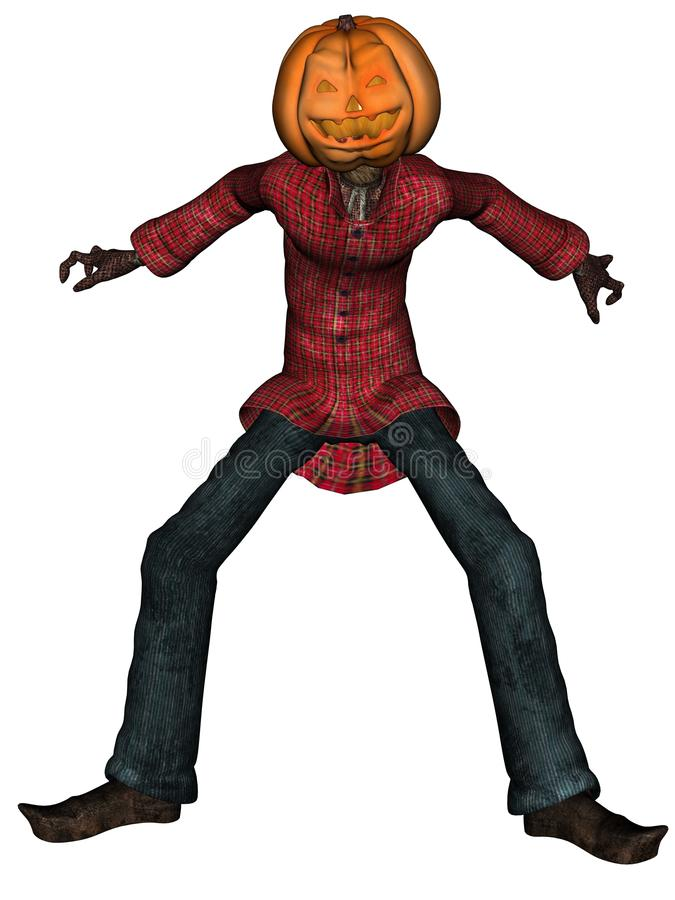 Download Halloween Man With Pumpkin Head Stock Illustration - Image: 11059505