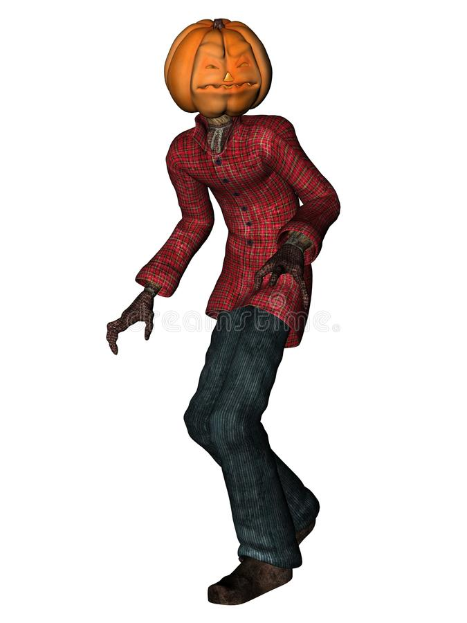 Download Halloween Man With Pumpkin Head Stock Illustration - Image: 11059524