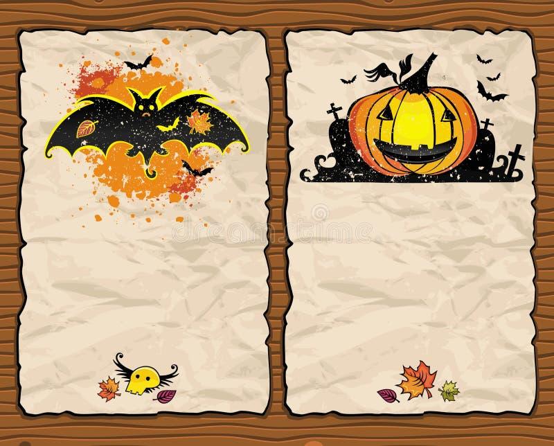 Halloween maserte Hintergründe 1 lizenzfreie abbildung
