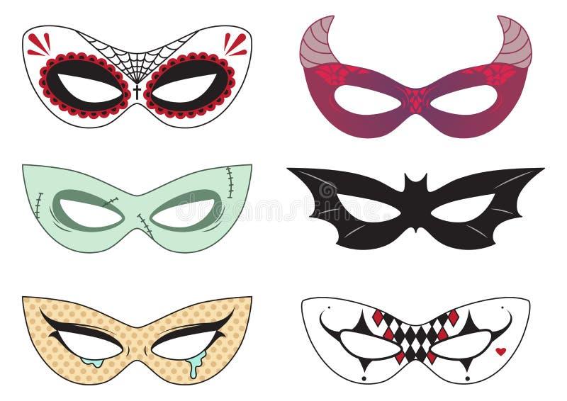 Halloween-Maskers stock afbeeldingen